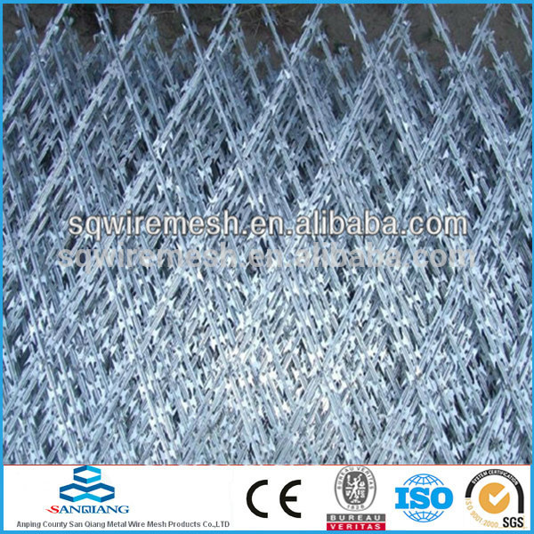 hot-dip zinc plating barbed wire fence(Anping)