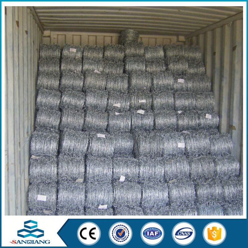 2.1mm hot dipped high tension security steel electric galvanized barbed wire
