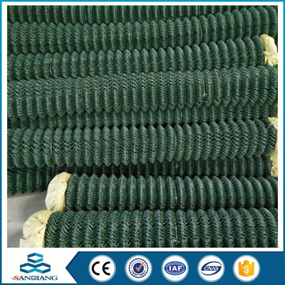 use galvanized chain link fence netting post