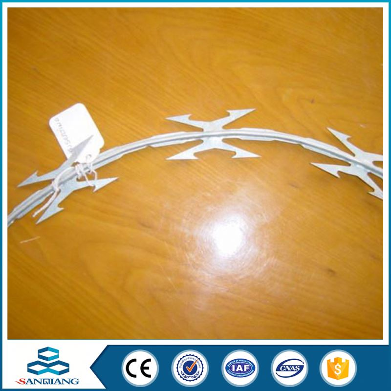A variety of colors buy razor blade barbed wire brackets