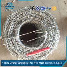 2016 electro galvanized and ot dip galvanized Barbed wire