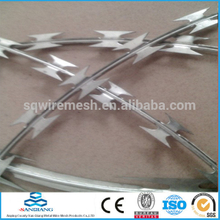 stainless steel,low carbon barbed wire fence(Anping)