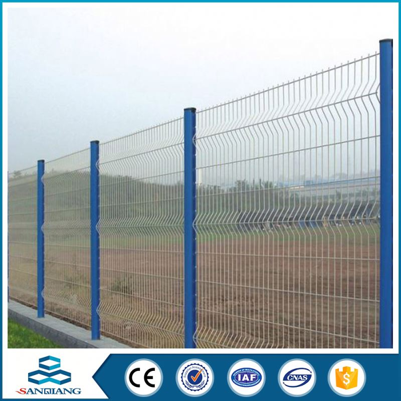 competitive bent galvanized and pvc coated temporary plastic fence supplier