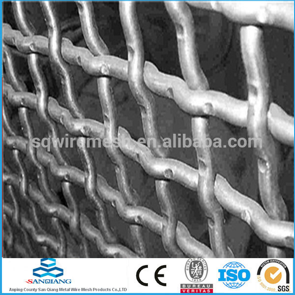 SQ-two-way salternate wave bent crimped woven wire mesh(manufacturer)