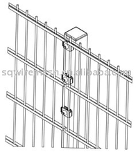 double horizontal wires fence panel