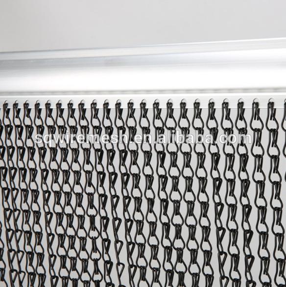 Metal Chain Link Fly Screen Mesh Door Curtain