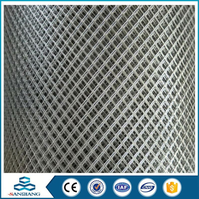 11.15kg/m2 weight iron flattened hexagonal pattern expanded metal mesh
