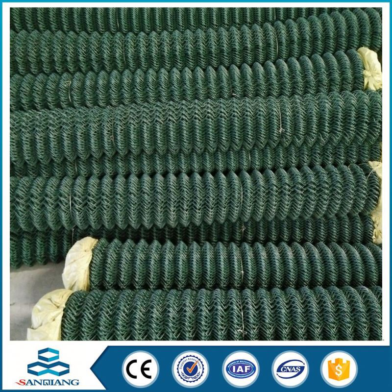pvc coated used chain link fence for sale factory