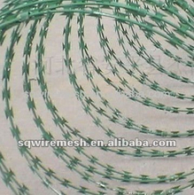 PVC coated razor barbed wire(Anping Factory)