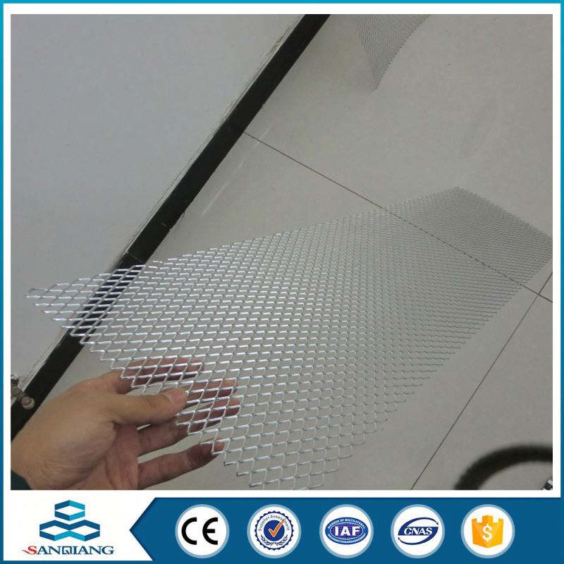 Fashion designed construction thick black expanded metal mesh for building