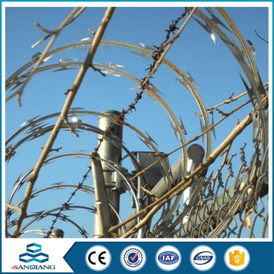 hot sales galvanized airport razor barbed wire price